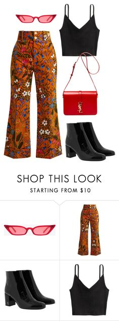 """""""GUCCI ON THE FLOOR"""" by angel534 on Polyvore featuring Gucci and Yves Saint Laurent"""