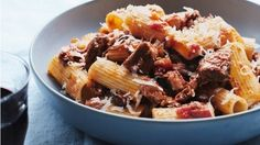 Rigatoni with wild boar ragu