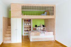 Mezzanine cupboard and bed Jan Martin Nuremberg