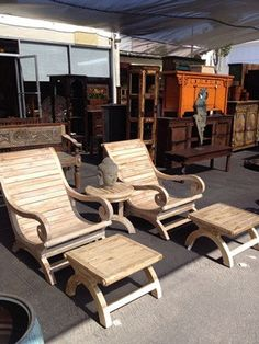 For roof deck.  Balinese plantation style chairs and ottomans