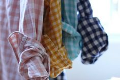 Gingham shirts = a comfortable and colorful day