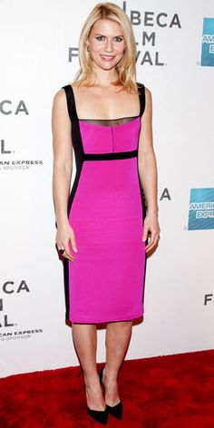 04/24/12: The neon hue wasn't all that was hot about this dress! #ClaireDanes was a total knockout in the curve-hugging silhouette. #lookoftheday http://www.instyle.com/instyle/celebrities/lotdpopup/0,,20589751_21150648,00.html