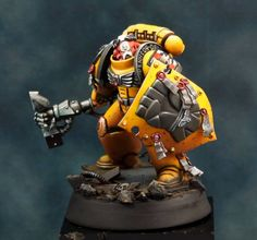 Imperial Fist space marines W40K