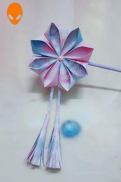 10 Fun Origami Ideas For Christmas - DIY Tutorials Videos Diy Origami, Paper Crafts Origami, Origami Ideas, Paper Flowers Craft, Flower Crafts, Diy Flowers, Origami Flowers, Flower Diy, Diy Craft Projects