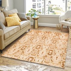 8' x 10' Gold/Sand Ikat Rug features a combination of earth shades; sand, brown, tan and gold as its major color. #goldrugs #buygoldrugs #buygoldrugsonline #rugknots Gold Sand, Gold Rug, Oriental Design, Large Area Rugs, Lights Background, Cool Rugs, Rugs Online, Ikat, Primary Colors
