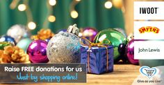 Christmas is coming!! Get all your last minute gifts online via Give as You Live to raise free funds for us.