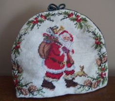 SANTA CLAUS needlework NEEDLEPOINT chihuahua TEAPOT tea kettle COZY  CHRISTMAS | Crafts, Handcrafted & Finished Pieces, Other Handcrafted Pieces | eBay!