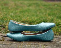 Flat wedding shoes Blue wedding shoes Light blue wedding shoes Wedding flats white with flowers white Glitter flats low high heels SIZE 9
