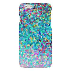 Colorful Blue Multicolored Abstract Art Pattern Glossy iPhone 6 Case- My original abstract art and design. Cover your iphone 6 phone w/this cute bright colorful iPhone 6 case! Visit my store to shop for more colorful cases & gifts- www.zazzle.com/abstractpaintings*/