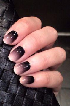 pink and black ombre nails - Поиск в Google