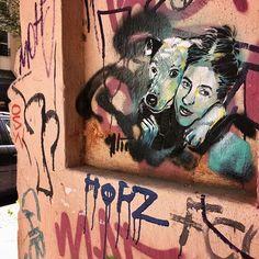 "Alice Pasquini, Chiara and her unforgettable bestfriend Bazs"" in Berlin - Kreuzberg, 2017"