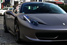 Matte Grey Ferrari 458 dontcha wish you were cool enough to own one of these bad boys!