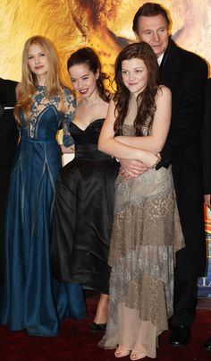 The Voyage of the Dawn Treader Premiere - I love Georgie Henley and Liam Neeson in this photo!!