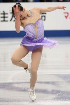 Mao Asada of Japan competes in the Ladies Short Program during ISU World Figure Skating Championships at Saitama Super Arena on March 27, 2014 in Saitama, Japan.