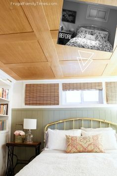 Are you looking for basement ceiling options? We wanted an idea for our low basement ceiling & we found one! A special & The post How to Make a Basement Plywood Ceiling (that looks like wood paneling!) appeared first on Jaden DIY Design. Plywood Ceiling, Basement Ceiling Options, Basement Windows, Basement Bedrooms, Wood Ceilings, Cozy Basement, Basement Ideas, Basement Ceilings, Modern Basement