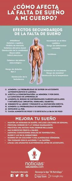 ¿Cómo afecta la falta de sueño a mi cuerpo? haraiberia.com Health And Beauty, Health And Wellness, Health Care, Health Fitness, Healthy Tips, Healthy Habits, Health Promotion, Health And Safety, Natural Medicine