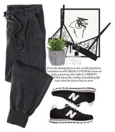 """- Jogging morning -"" by lolgenie ❤ liked on Polyvore featuring Kriss Soonik, Lux-Art Silks, CLEAN and New Balance"