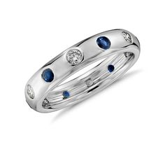 Introducing the new @m_lhuillier Sapphire and Diamond Band available at bluenile.com