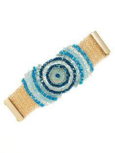 Blue Multi Bulls Eye Bracelet by Lavish by Tricia Milaneze on Gilt.com