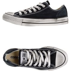 CONVERSE ALL STAR Low-tops ($89) ❤ liked on Polyvore featuring shoes, sneakers, converse, black, black low top shoes, round cap, low profile shoes, low top and black low top sneakers
