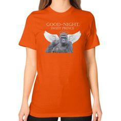 Good-Night, Sweet Harambe Unisex T-Shirt (on woman)