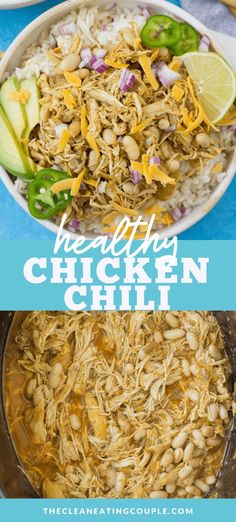 Healthy Grilled Chicken Recipes, Leftover Chicken Recipes, Easy Chicken Dinner Recipes, Healthy Crockpot Recipes, Real Food Recipes, Cooking Recipes, Chili Recipes, Pork Recipes, Healthy Meals