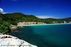 Karon Beach, Phuket, Thailand. Centara Grand Phuket Resort at the north end of Karon seen from the headland.  Cannot wait!!!