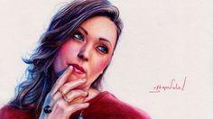 Drawing Luxury Girl Portrait - Elena Garcia Maximova - Портрет Елена Гар...