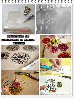 enrHedando: 430 Tutorials and Technical Ideas Shrinky Dinks Plastic by Shopway2much