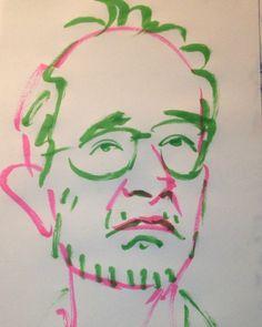 いいね!1件、コメント1件 ― @1mindrawのInstagramアカウント: 「#1mindraw #artolindsay #アートリンゼイ #19530528 #birthday #誕生日 #portrait #筆ペン画」