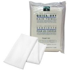 Ultra-Absorbent Quick Dry Hair Towel 1 Count by Earth Therapeutics. $14.68. Serving Size:. 1 Count. This ultra plush towel is cut from angel-tex - a revolutionary fabric that absorbs excess moisture (such as water and sweat) much more quickly than ordinary fabrics. Developed with advanced proprietary micro-fiber technology, angel-tex is woven from fibers that are even finer than conventional micro-fiber. The result is a heavenly light, heavenly soft, super-absorbe...