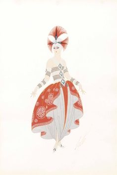 Romain De Tirtoff 'Erté' (1892-1990) | An oriental costume design for the Folies Bergères, 1926