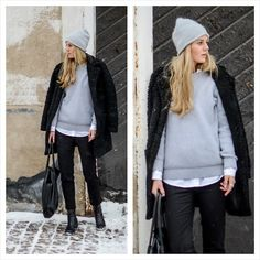 Get this look: http://lb.nu/look/5793493  More looks by Kajsa Svensson: http://lb.nu/kajsasven  Items in this look:  Vero Moda Beanie, Selected Homme Knitted Sweater, Pieces Bag, Vila Pants