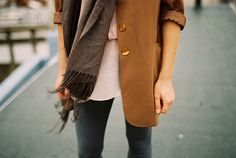 Blazers and tunics and scarves