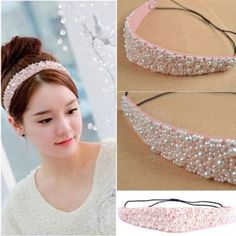 2015Hot Fashion Sweet Girls Pearl Beads Headhand Hairband Hair Head Band New in Clothing, Shoes, Accessories, Women's Accessories, Hair Accessories | eBay