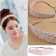 2015Hot Fashion Sweet Girls Pearl Beads Headhand Hairband Hair Head Band New in Clothing, Shoes, Accessories, Women's Accessories, Hair Accessories   eBay