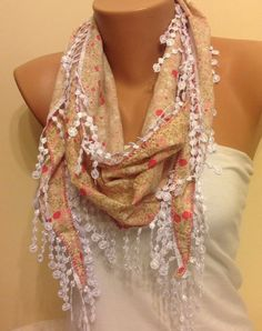 Check out this item in my Etsy shop https://www.etsy.com/listing/207368559/beige-floral-scarflace-scarfwomens