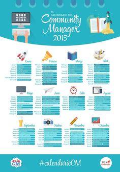 El calendario del Community Manager Ideas Negocios Online para www.masymejor.com