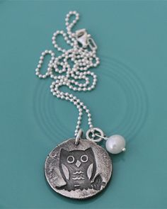 """Ok---I love, love, LOVE this one! """"Owl"""" Always Love You...And on the back you and your sweetie's initials!"""