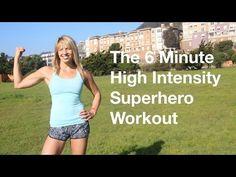 6 Minute High Intensity Superhero Workout - YouTube