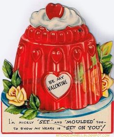 Be my Valentine - I'm nicely set and moulded too. To show my heart is set on you. Happy Valentines Day Card, My Funny Valentine, Vintage Valentine Cards, Valentines Day Hearts, Vintage Greeting Cards, Vintage Holiday, Vintage Postcards, Valentine Images, Valentine Ideas