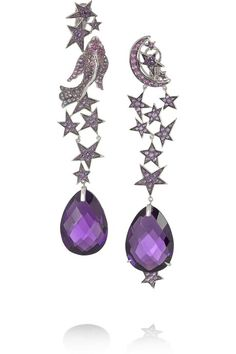 Lydia Courtelle Pices amethyst earrings