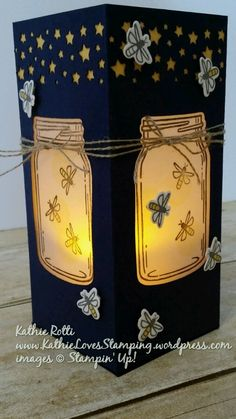 It's time for some summer fun! Have you ever been lucky enough to catch lightning bugs? you have come to the right place … read on! If you have arrived from Steph … Mason Jar Cards, Love Jar, Library Themes, Love Stamps, Love Images, Card Sketches, Jar Crafts, Cool Cards, Summer Fun