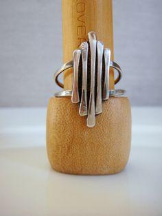 Dry Bones Staggard Ring Sterling Silver. $35.00, via Etsy.