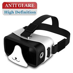 AMAZKER 3D Panda Mini VR Device With Magnetic Trigger for Gift for ChildUpgraded Ultra Light Portable Virtual Reality Headset Version Glasses for iPhone 6s Nexus 6 Samsung Galaxy s5 s6 *** Click on the image for additional details.Note:It is affiliate link to Amazon. #fun