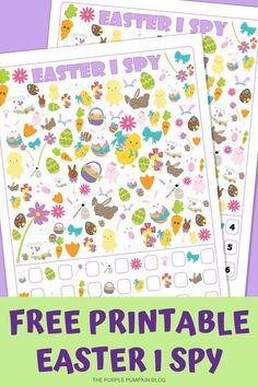 This Easter I Spy game is a fun activity for kids and is a sneaky way to get some learning in at the same time! How many objects will they be able to find? Easter Activities, Spring Activities, Fun Activities For Kids, Classroom Activities, Craft Activities, Crafts For Kids, Easter Printables, Party Printables, Free Printable Worksheets
