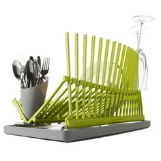 high and dry dish rack -- so much better than those dumpy old plastic things