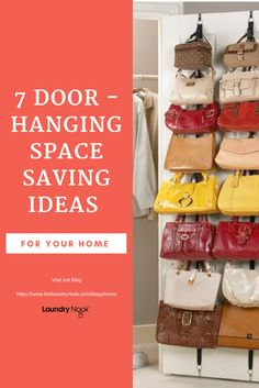 7 Door Hanging Products that will save you mountains of space. Visit our Blog for Tips https://www.thelaundrynook.com/blogs/blog/7-door-hanging-ideas-to-save-space-in-your-bedrooms