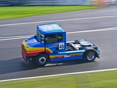 No 45 Cees Zandbergen, Scania T124, Class A at the (BTRC) British Truck Racing Championship at Brands Hatch 2016