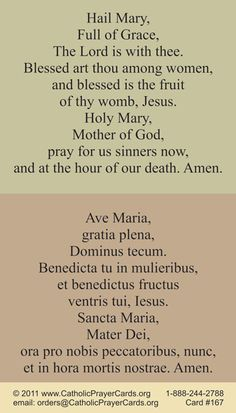 http://www.catholicprayercards.org/Latin_Holy_Cards/bilingual-hail-mary-prayer-card-lat-eng.html
